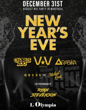 Montreal New Years Eve NYE Tickets Events Party Parties 2022 Olympia